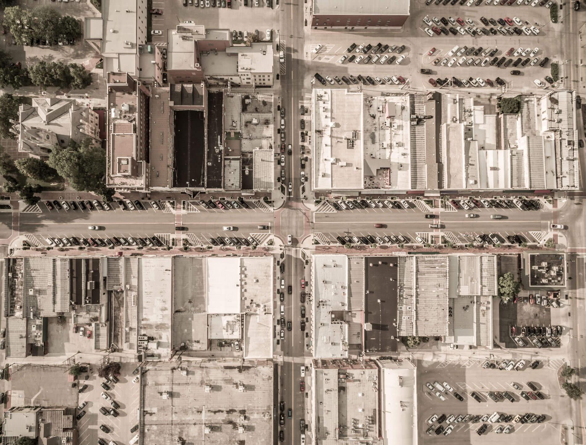 Poyntz Avenue Aerial Photo